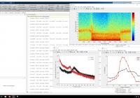 screenshot of data file and graphs