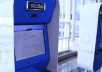 CLEAR scanners in airport.