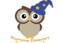 WESO logo. Cartoon owl wearing wizard cap.