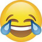 emoji laughing face crying