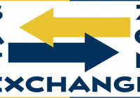 Safe Exchange Zone logo. Yellow and blue arrows pointing at each other.