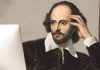 shakespeare at computer