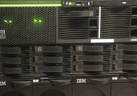 Photo of AIX server rack