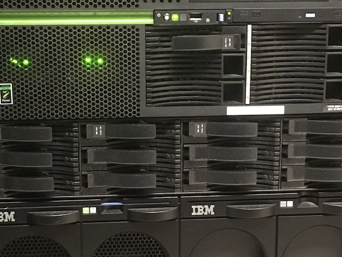 Photo of AIX server rack