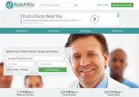 Screenshot of Rate MDs website.