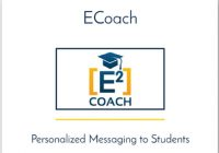 Ecoach logo: personalized messaging to students