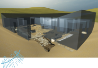 3D image of excavated Roman home.