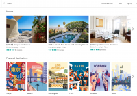 screenshot of Airbnb home page