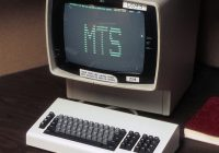 Old computer display with MTS on screen