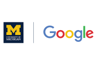 U-M and Google wordmarks separated by vertical line