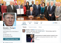 Screenshot of Trump twitter page
