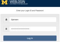 Weblogin page