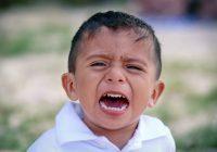 crying angry boy
