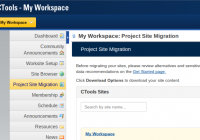 CTools site migration interface
