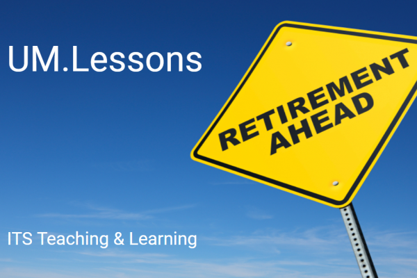 UM.Lessons with Retirement Ahead street sign