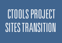 CTools project sites transition