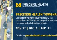 Precision Health fliers with dates and times