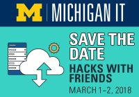 Save the date. Hacks with friends. March 1-2 2018