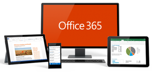 devices showing Office 365 apps