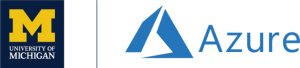 U-M Azure wordmark