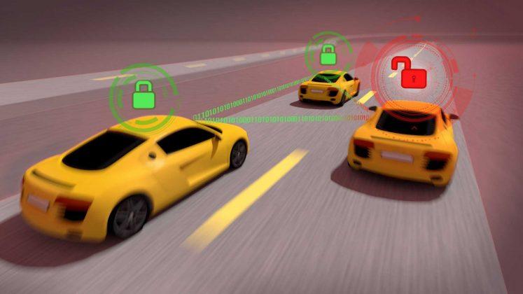 virtual cars on track