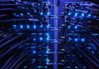 close up of servers racks