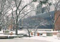 Dearborn campus in winter