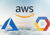 azure, aws & gcp logos over cloud bf