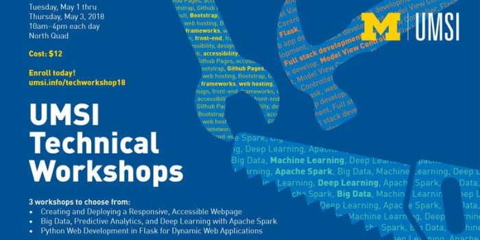 UMSI Technical Workshops poster