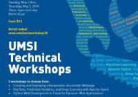 UMSI Technical Workshops poster