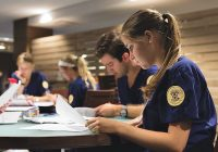 nursing students studying