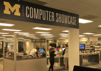 new Computer Showcase in Shapiro Library