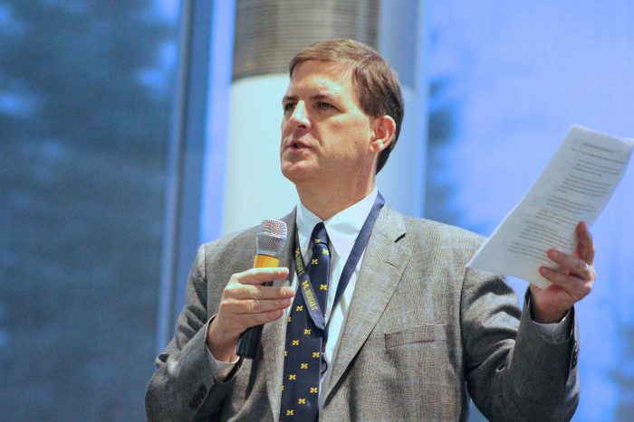 Ted Hanss presenting at the Michigan IT Symposium in 2014