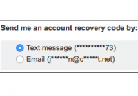 account recovery interface