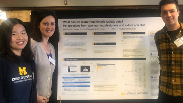 """Tan, Quintana, and Schulz presenting this work at the MIDAS Learning Analytics Symposium at the University of Michigan."""