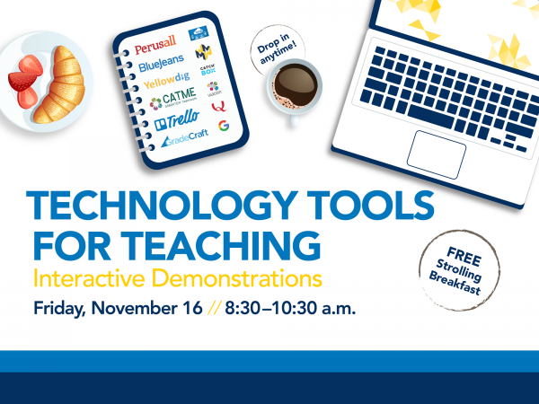Technology Tools for Teaching: Interactive Demonstrations and Strolling Breakfast