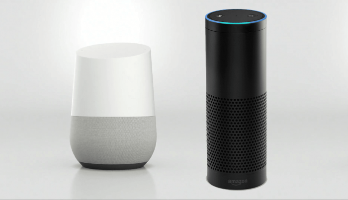 Google Home and Amazon Alexa devices
