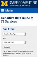 sensitive data guide UI
