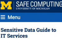 sensitive data guide header