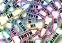 """arrows with the words """"lie"""" and """"truth"""" on them"""