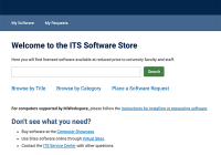 A screenshot of the ITS Software Store website