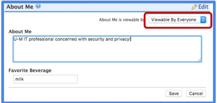 screenshot of privacy settings UI