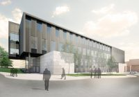 rendering of new wing of Flint campus Murchie Science Building