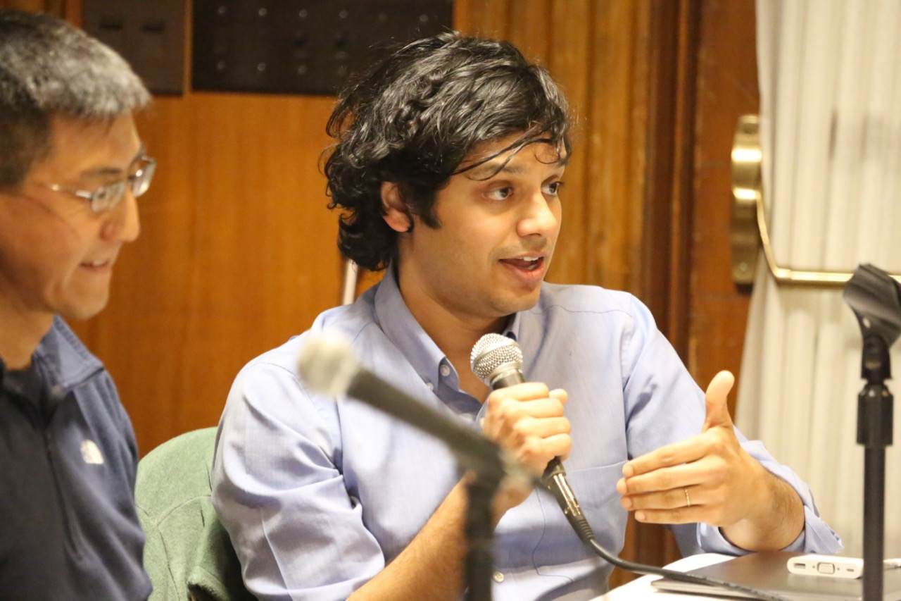Ram Vasudevan speaks at a Dissonance event.