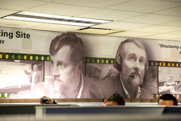 wall of Knox Center showing images of James Knox