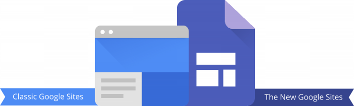 classic google sites, the new google sites