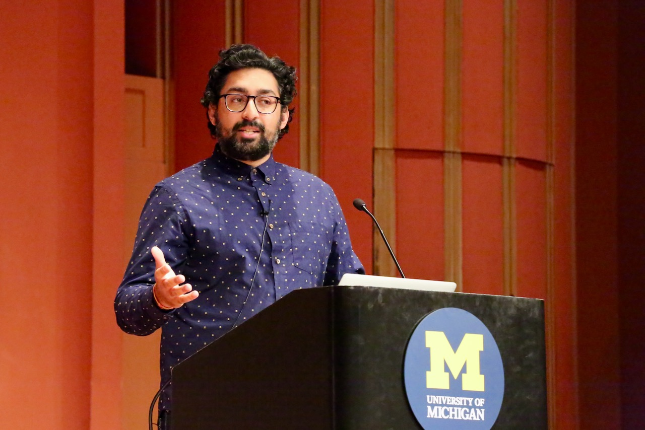Abhishek Narula, graduate student in the U-M Stamps School of Art & Design