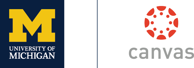 U-M Canvas combined logo