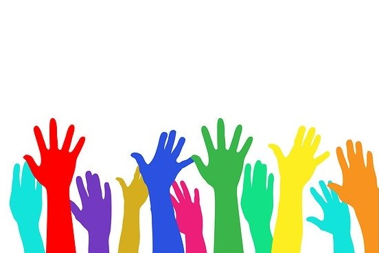 multi-colored hands