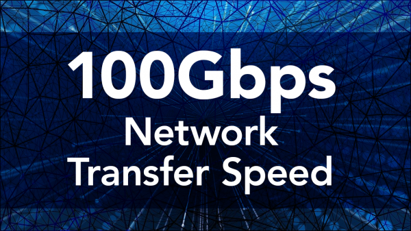 100GBps network transfer speed